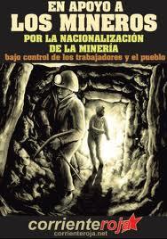 Soutien aux mineurs -Pour la nationalisation sous control ouvrier et du peuple